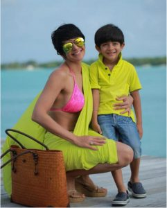Mandira Bedi with son