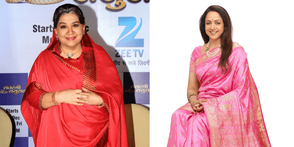 Farida Jalal and Hema Malini