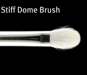 stiff dome eyeshadow brush