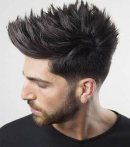 Spiky tapered cut hairstyle